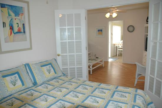 Cottages by the Ocean: One Bedroom Cottage has queen bed and queen sleeper sofa.