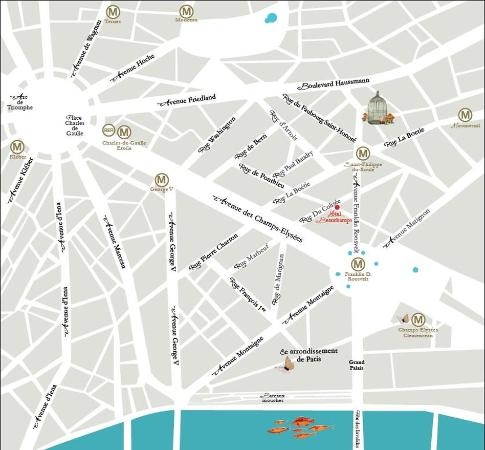 Hotel Beauchamps : Map