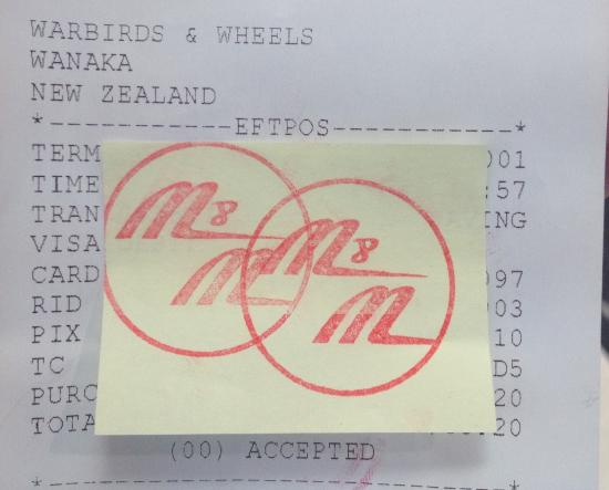 Warbirds & Wheels: No nice tickets, just stamps!