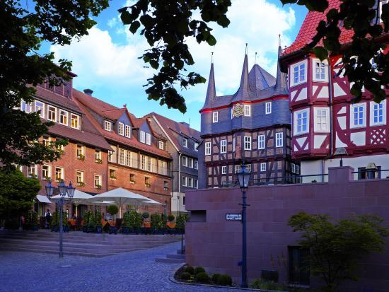 Hotel Die Sonne Frankenberg: Marketplace in front of hotel