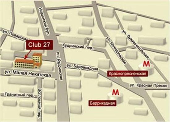 Club 27 Hotel: Map