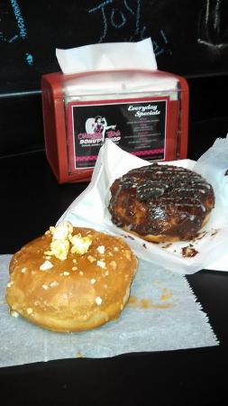 Naughty Girls Donut Shop: Caramel apple and white chocolate oreo