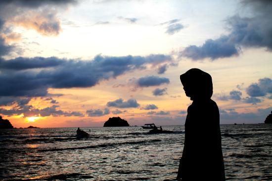 Puteri Bayu Beach Resort: the sunset