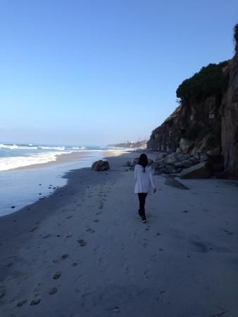 Moonlight Beach Motel: Heading back...