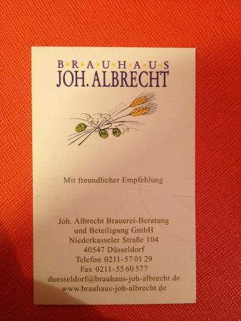 Brauhaus Joh. Albrecht: визитная карта