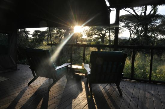 Tandala Tented Camp: From the terrace outside the tent.