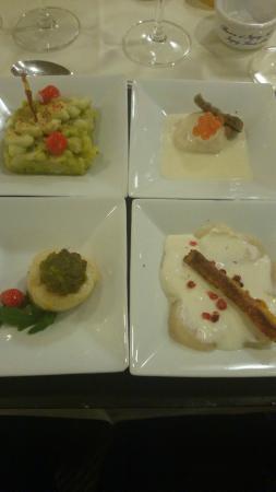 Crab, prawn and avocado starter with mojito granita. - 普利茅斯 ...