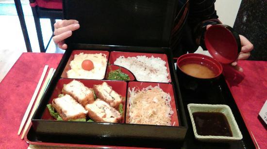 Yokoso : Boîte bento: saumon panè fourré au fromage