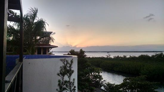 Three Iguanas Villa: Sunset from 3rd Floor