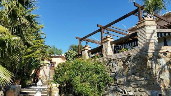 Posada los Cantaros: Uitzicht op het terras van het restaurant