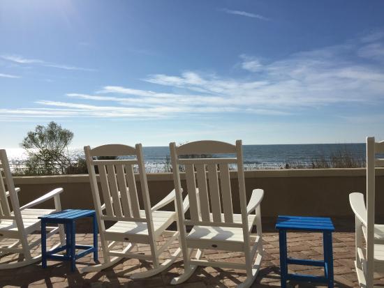 Wyndham Ocean Boulevard Rocking Chairs To View The Beach