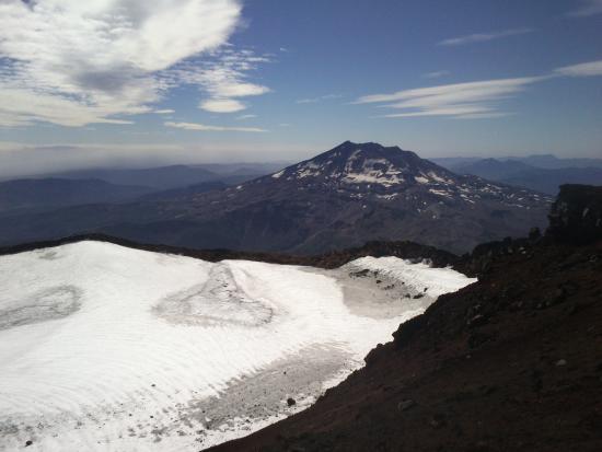 Lonquimay, شيلي: Vista del cráter