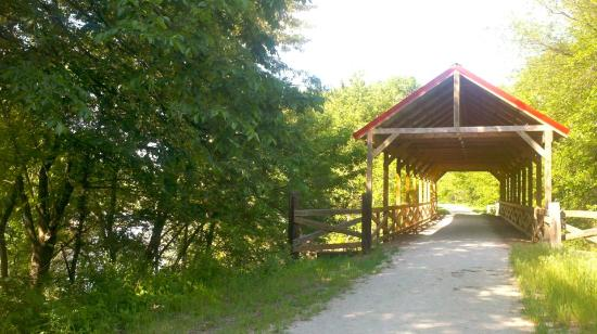 Marysville, KS: The covered bridge at .8 mile.
