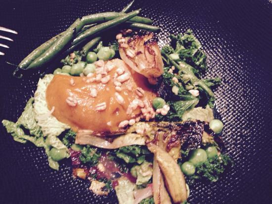 ... on lunch prix-fixe menu. Sweet potato and black garlic dauphinois, b