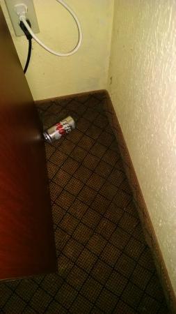 Ramada Austinburg/Ashtabula: Beer can in corner
