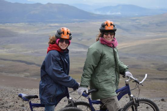 Arie's Bike Company Day Tours: at the top of the volcano