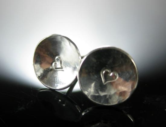 La Vidalerie Jewellery Making Workshops: Silversmithing - Heart Studs  - Students Work