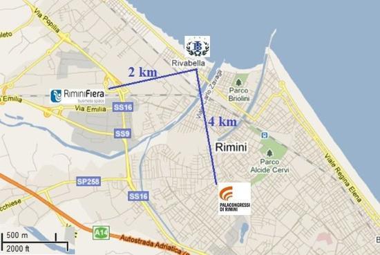 Map Picture of Hotel Imperial Beach Rimini TripAdvisor