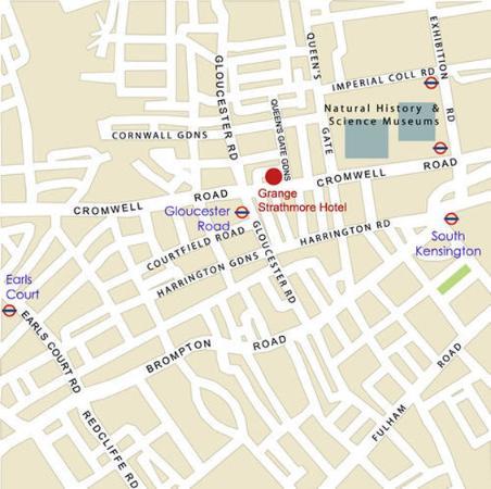 Grange Strathmore Hotel: Strathmore Map