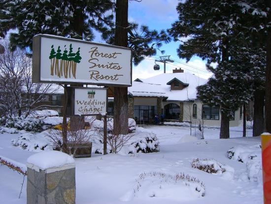 Forest Suites Resort at Heavenly Village: Front Sign In Snow