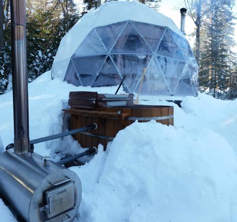 Dome and Hot tub
