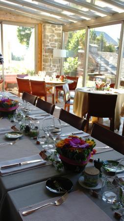 Hotel les Servages d'Armelle: dans la terrasse salle pour l'anniversaire