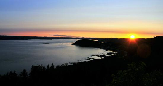 Auberge La Tourelle du Fjord : Vue Ouest