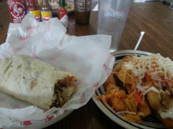 Latino's Taste: Grilled pork burrito & fried yuca