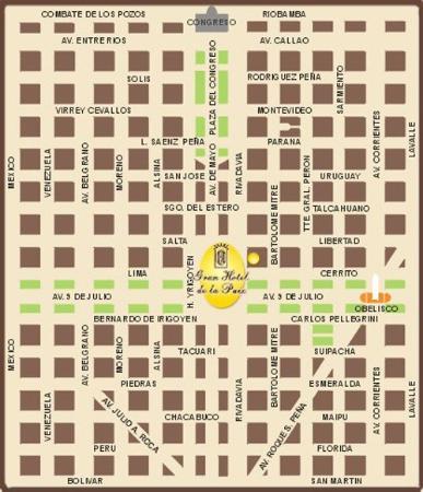 Gran Hotel de la Paix : Map