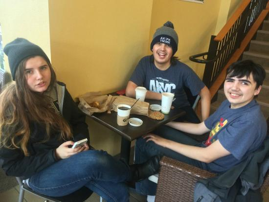 Broadway Coffeehouse: Family time...