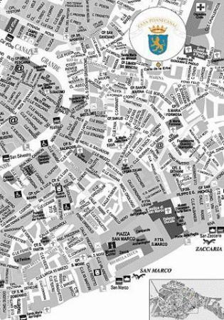 Casa Pisani Canal: Map