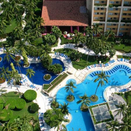 Club Regina Puerto Vallarta: a view of the pools from above