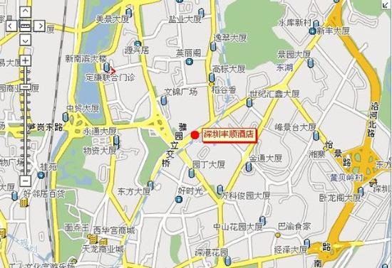 Feng Shun Hotel: Map