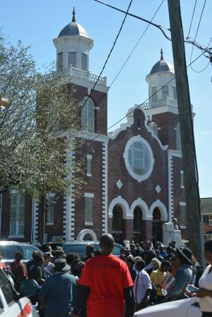 Brown Chapel AME Church: 50th Anniversary Selma March Crowds at the Brown Chapel