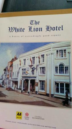 White Lion Hotel: I took this from there brochure!