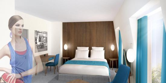 Best Western Plus 61 Paris Nation Hôtel : ASAAParis Nation Hotel Room BLUEPEOPLE