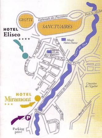 Eliseo Hotel : Location Map