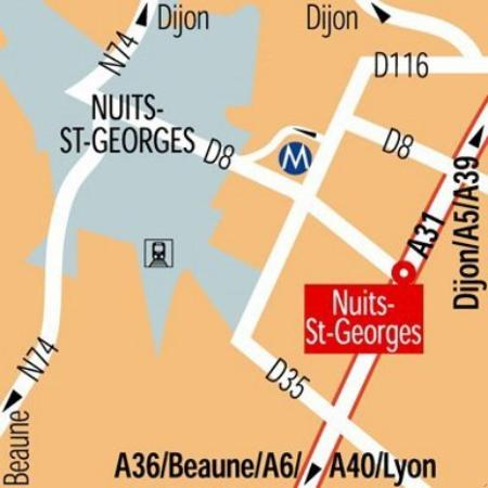Inter-Hotel Le Saint Georges : Map
