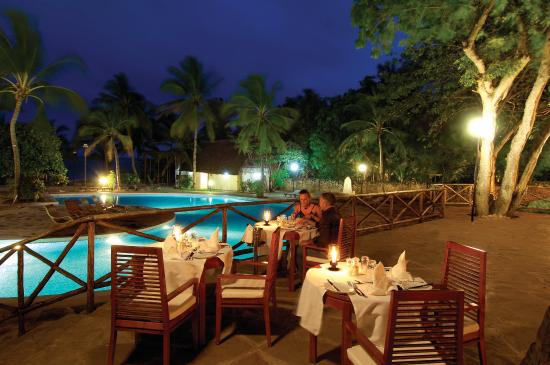 Diamonds Dream of Africa: Open-air terrace of the main restaurant