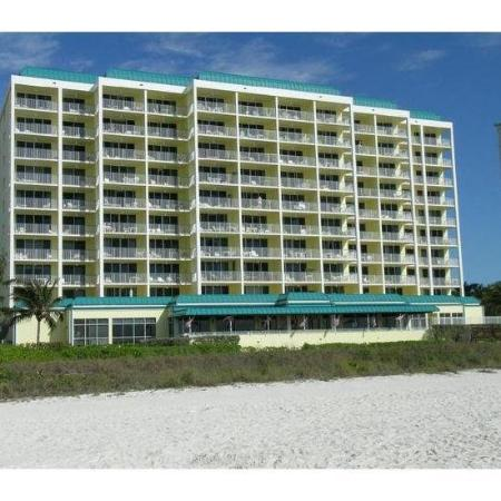 Apollo Condominiums: The back of the Apollo building.  All units have a great view of the beach!