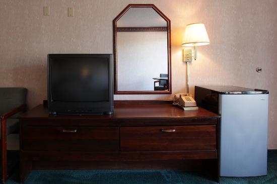 Americas Best Value Inn: TV_Fridge in Room