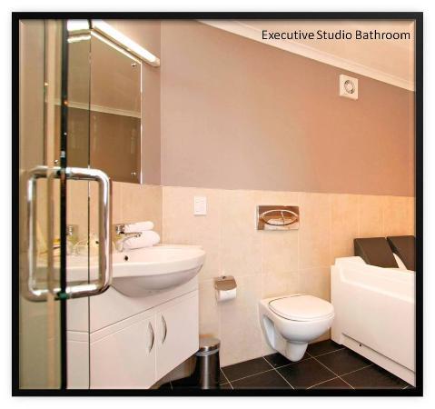 Aotea Motor Lodge : Executive Studio Bathroom With Spa
