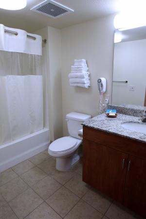 Garden Place Suites: Guest Room (Bathroom)