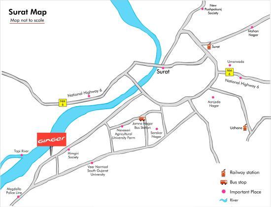Hotel Location Map Picture of Hotel Ginger Surat Surat TripAdvisor
