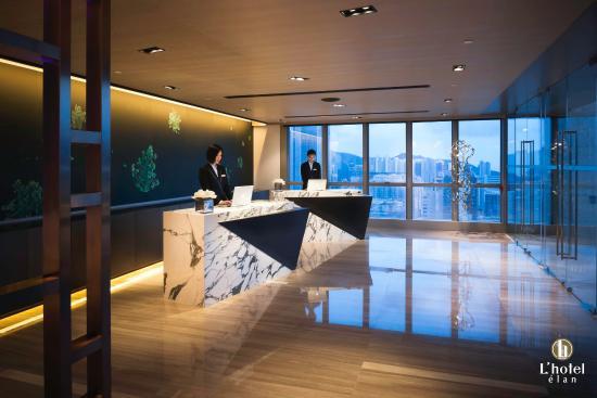 L'hotel elan: L'hotel élan skyline reception
