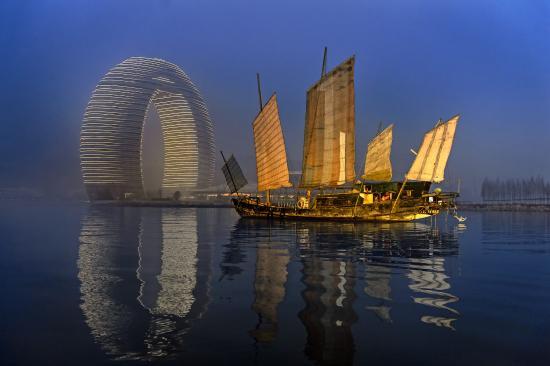 Huzhou, Çin: Resort Exterior Dawn