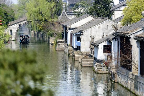 Huzhou, Kina: Local Attraction Water Village