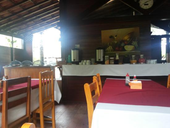 Pousada do Serrote: local do café da manhã