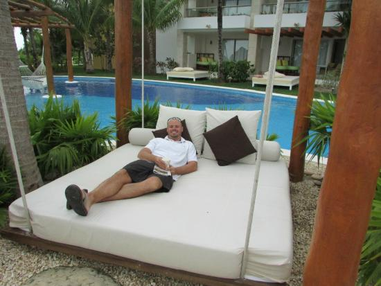 hanging poolside beds picture of excellence playa