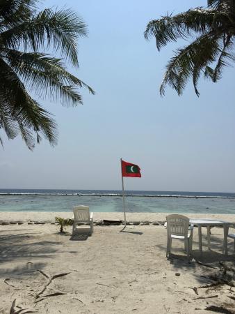 Transit Beach View Hotel : 酒店门口的海